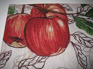Fresh Furit Red Apples Leaves 13 Quot X 18 Quot Table Placemats W