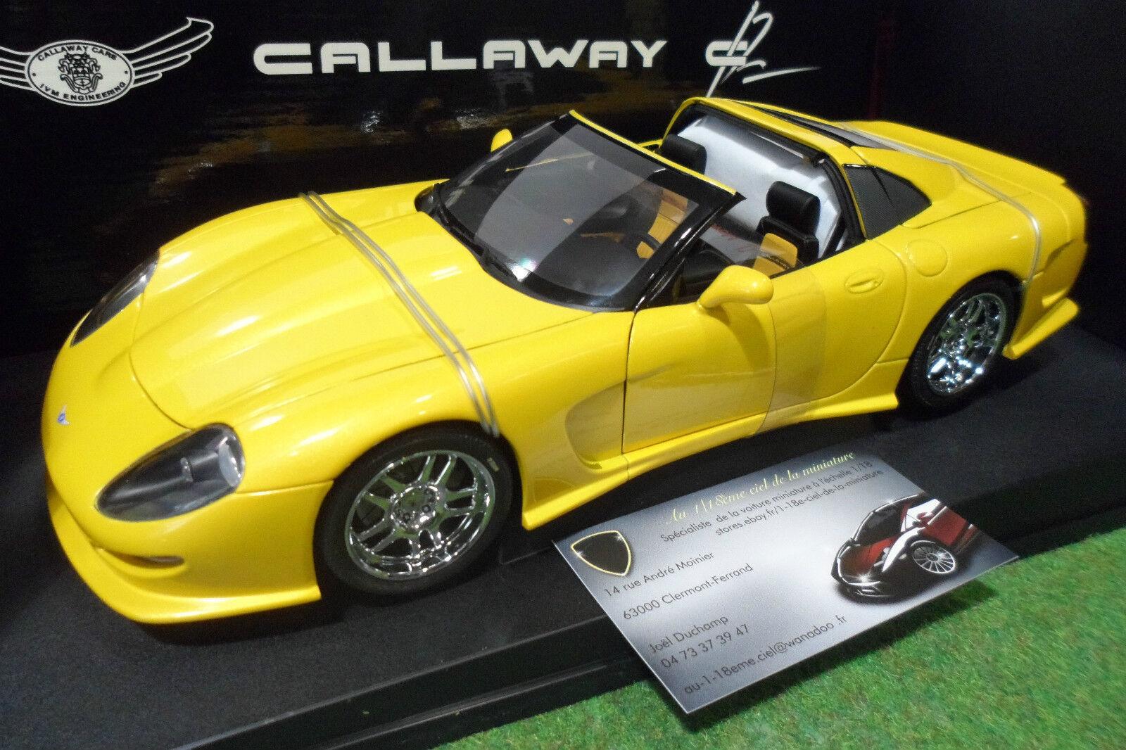 CALLAWAY C12 Chevrolet Corvette cabriolet j 1 18 AUTOart 71013 voiture miniature