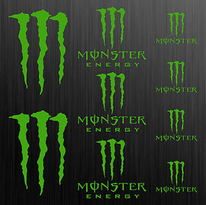 MONSTER-aufkleber-sticker-motorrad-motorcycle-auto-tuning-claw-9-Stucke-Pieces