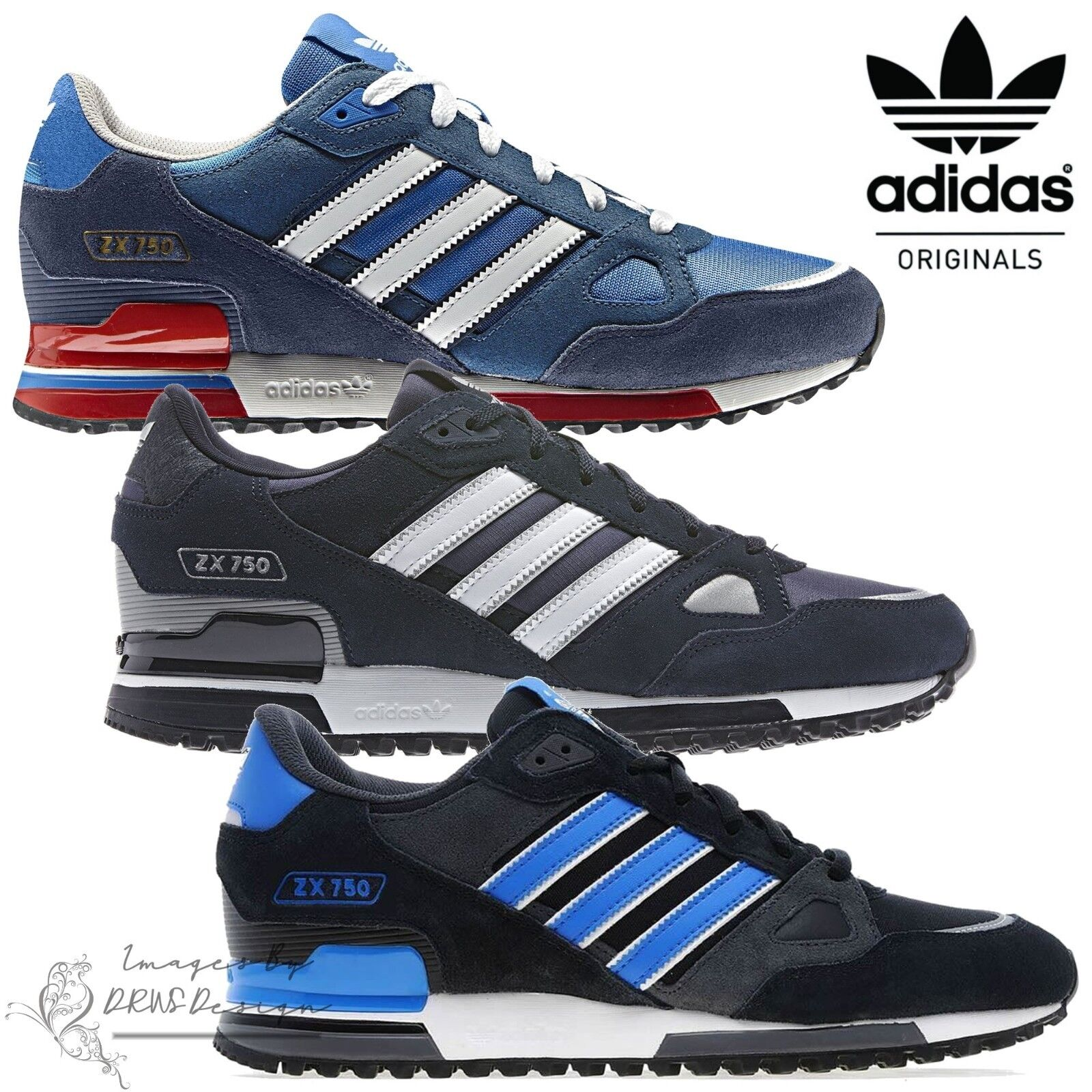 Adidas Originals ZX 750 Men's Suede Trainers Retro Casual Sports Running shoes