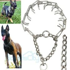 Stainless Steel Dog Training Choke Chain Collar Adjustable Prong Pinch Collar