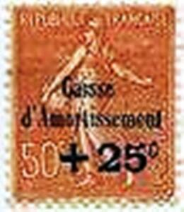 FRANCE-STAMP-TIMBRE-250-034-CAISSE-AMORTISSEMENT-SEMEUSE-25c-S-50c-034-NEUF-xx-LUXE
