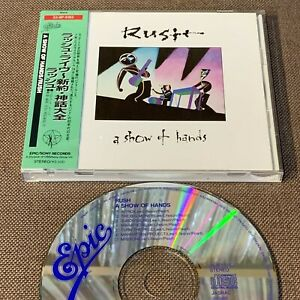 RUSH A Show Of Hands JAPAN CD 1988 1st issue 25.8P-5162 w/OBI+24p BOOKLET  FreeS