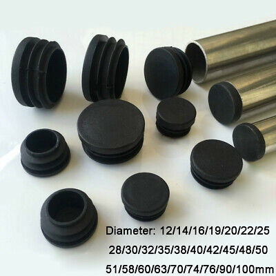 Black Nylon Dome Blanking End Caps Tube Pipe Inserts Plug Bung 12.7mm