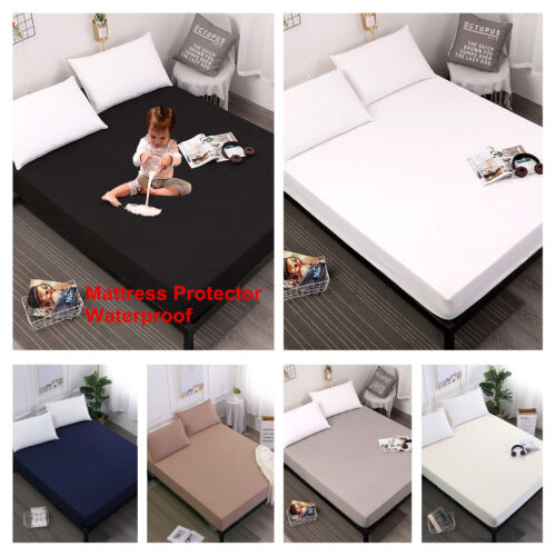 Mattress Protector Waterproof 100/% Microfiber Bed Sheets Cover with Elastic Band