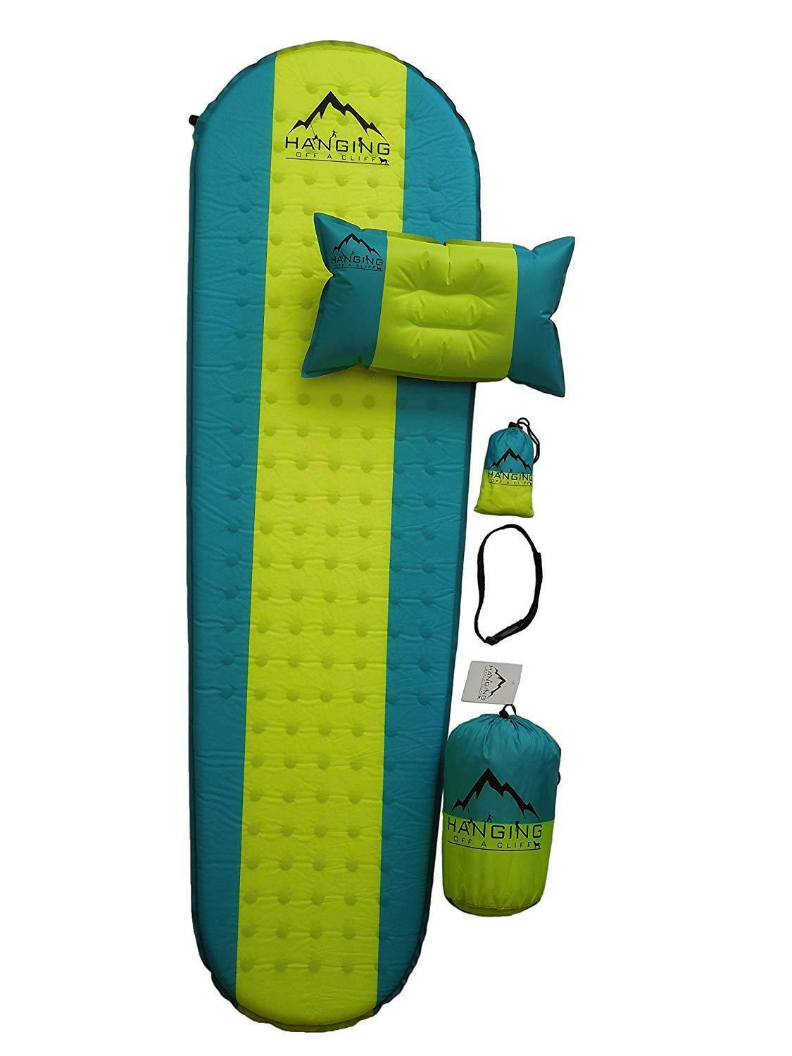Premium Self Inflating Sleeping Pad with Pillow Insulated for Hiking & Camping