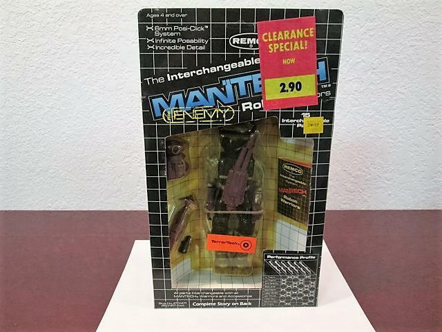 1983 MANTECH ROBOT WARRIORS  TERROR TECH  FIGURE MINT SEALED UNPUNCHED REMCO