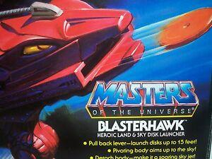 K1705202 Blasterhawk 100% complet en boite He-man Vintage Motu avec décalques inutilisés
