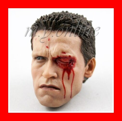 Hot Toys MMS126 THE TERMINATOR T800 Figure 1 6th Scale DAMAGED HEAD
