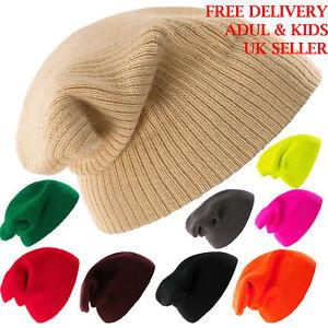 Kniteted-Beanie-Hat-Winter-Warm-Wooly-Unisex-Mens-Ladies-Ski-Skull-Cap-Kids-1