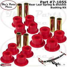 Prothane 7-1055 Rear Leaf Spring Eye&Shackle Bushing Kit-Poly Chevy Silverado