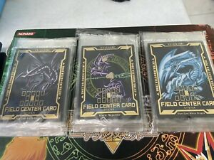 YuGiOh Firld Center Card Dark Magician Blue Eyes White Dragon Red Eyes