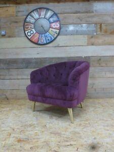 Alexander-James-Florence-arm-chair-purple-plum-velvet-vintage-Chesterfield