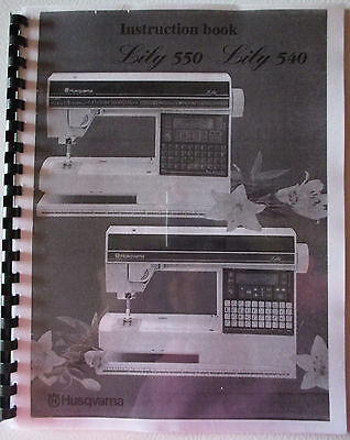 Husqvarna Viking Lily 540 550 Owner Users Operator Guide Instruction Manual Book