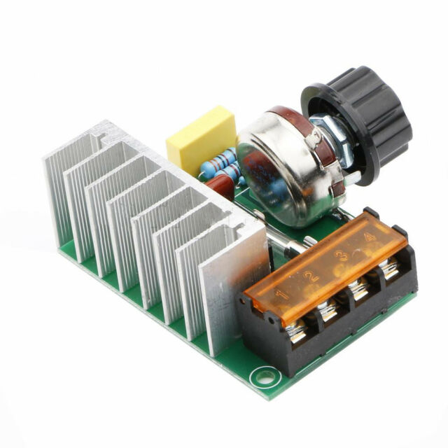 4000W AC SCR Voltage Regulator Dimmer Thermostat Electric Motor 220V ASS