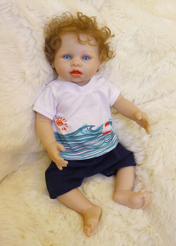 18  Bambola Baby Reborn Giocattolo Bambini Regalo Full Body Vinile Lavabile in silicone + vestiti