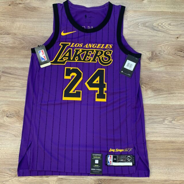 Nike Los Angeles Lakers 24 Kobe Bryant City Edition Men S Jersey Size M Black For Sale Online Ebay