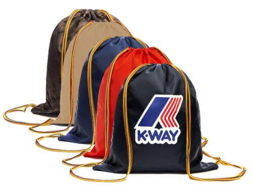 Sacca  sack  K-WAY K-POCKET Gym backpack zaino nylon waterproof impermeabile 38x