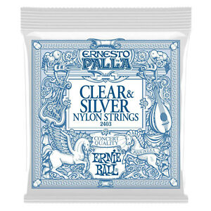Ernie Ball 2403 Palla Nylon Classical Clear & Silver Medium Guitar Strings 28-42