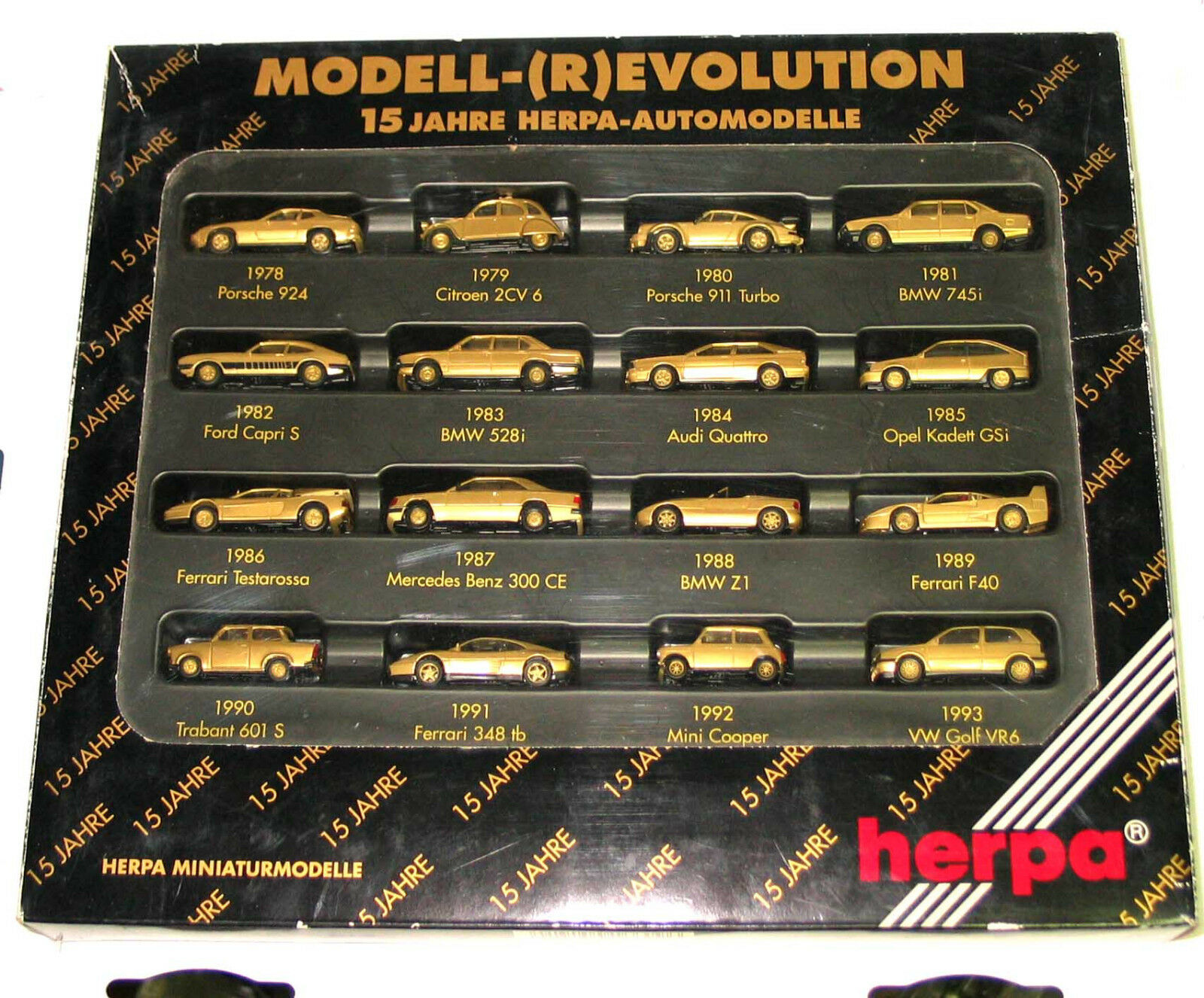 Herpa 1 87 166096 set 15 year anniversary model - (r) Evolution golden Emb.