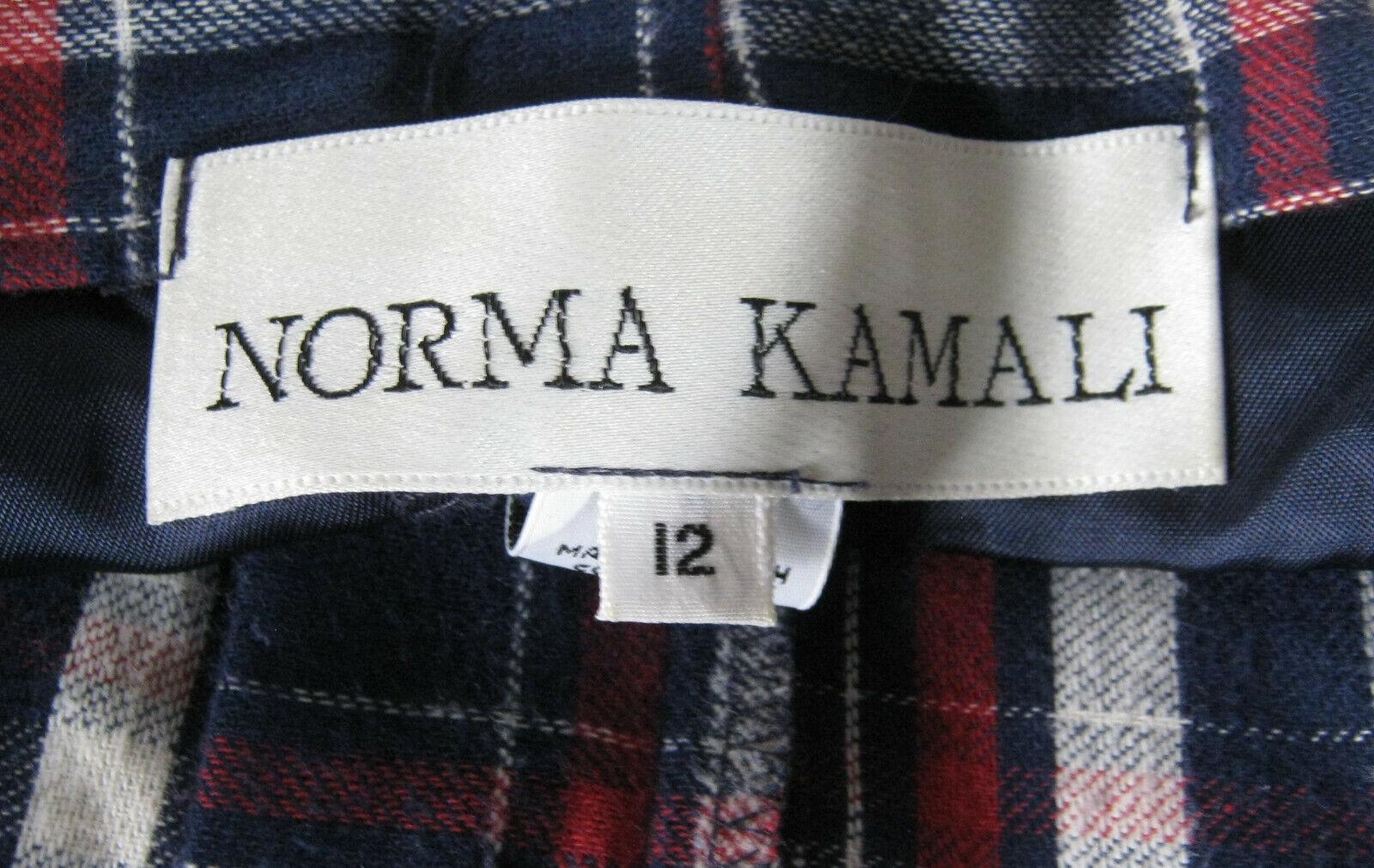 VINTAGE 1980s NORMA KAMALI DESIGNER PLAID FLANNEL… - image 4