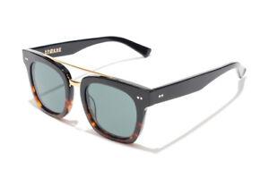 Epokhe Isay Sunglasses Black Tortoise Split/Green Lens RRP $250