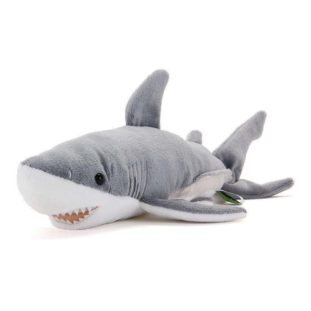 Great White Shark Plush Stuffed Animal Size  S COLORATA Japan