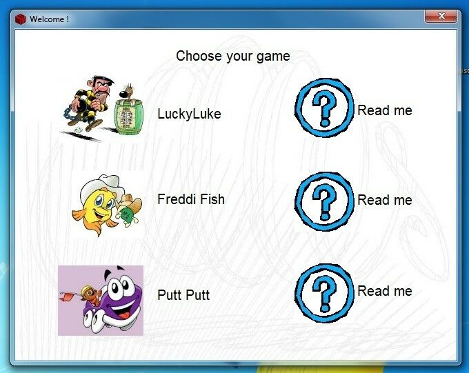MINI GAMES - LUCKY LUKE, PUTT-PUTT, FREDDY FISH