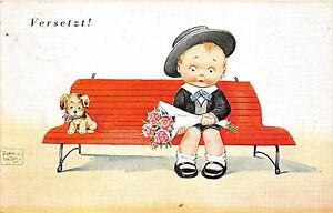 BG33701-child-with-flower-dog-added-john-wills-germany-nice-artist-signed