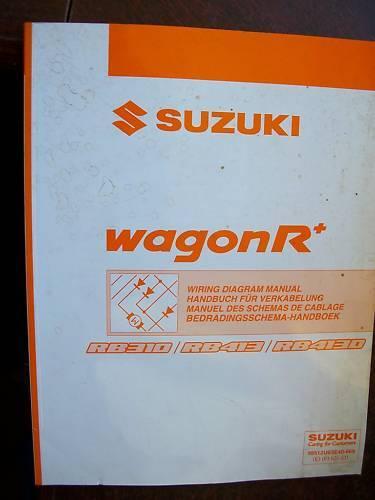 RB413 schémas électriques Suzuki WagonR RB310 RB413D 2004
