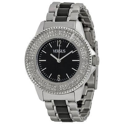 Versus by Versace Tokyo Crystal Black Dial Two-tone Ladies Watch 3C64200000