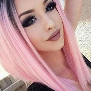 PW-FA-Hot-Women-Pink-Central-Parting-Long-Straight-Cosplay-Wig-Synthetic-Hai