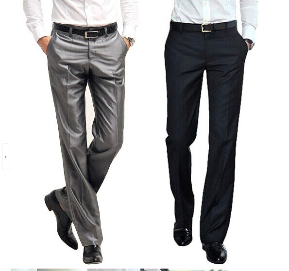 Korean Mens Groom Business Dress Slim Wedding Vogue Formal Leisure Pants Trouser