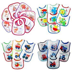 Konstruktiv 7 Tage Lätzchen Set Baby Wasserdicht Doppellagig Klettverschluss Frottee+folie Elegant Im Geruch Ernährung