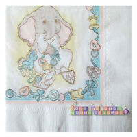 Nursery Rhymes Baby Elephant Vintage Small Napkins (30) Baby Shower Supplies