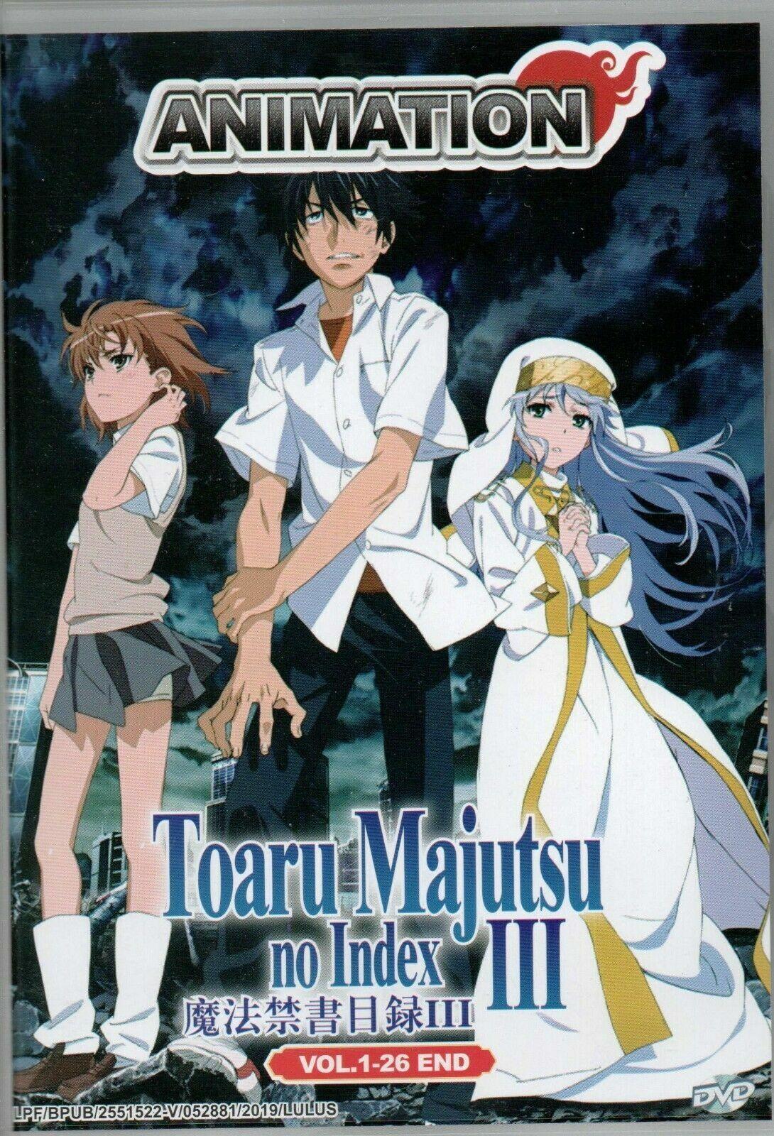 Anime DVD Toaru Majutsu No Index Season 3 Vol 1-26 End English Dub Ship