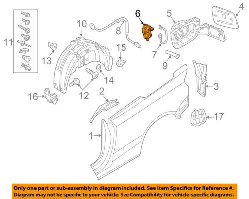 AUDI OEM 15-17 A3 Fuel Door-Lock Actuator 510810773