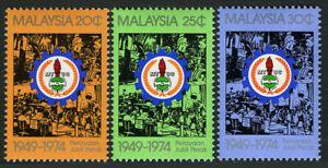 Malaysia 128-130,MNH.Malaysian Trade Union Cong.25th anniv.Emblem & Workers.1975