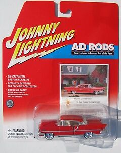 JOHNNY-LIGHTNING-R4-AD-RODS-1956-LINCOLN-PREMIERE-Rubber-Tires-HTF