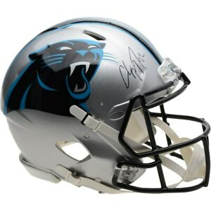 CHRISTIAN-McCAFFREY-Autographed-Panthers-Speed-Authentic-Helmet-FANATICS