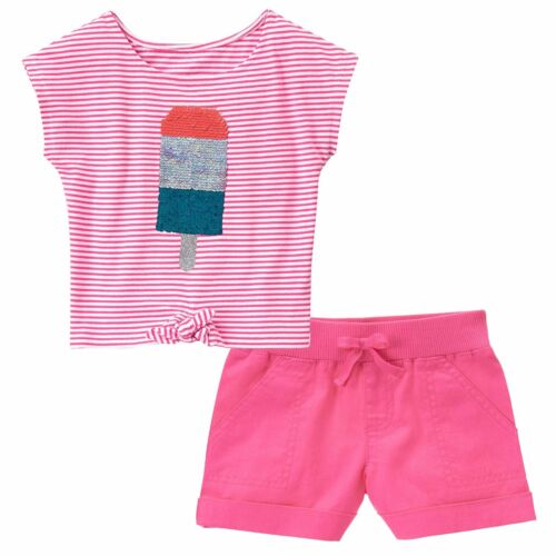 NWT Gymboree SUGAR REEF Girls Size 8 Ice Pop Tee Top /& Pull-On Shorts 2-PC SET