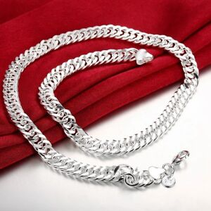 18K-White-Gold-Plated-Miami-Cuban-Curb-Link-Chain-Bracelet-Rhodium-Plated