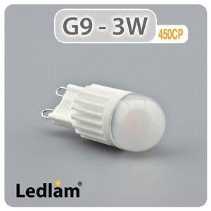 Ledlam G9 LED Capsule Bulb 3W 450CP - 25W 33W 40W halogen ...