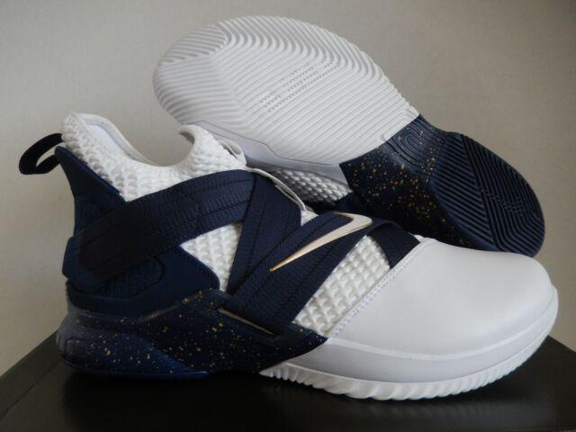 buy popular 3701a 1cea3 NIKE LEBRON SOLDIER XII SFG WHITE-WHITE-MIDNIGHT NAVY BLUE SZ 13  [AO4054-100]