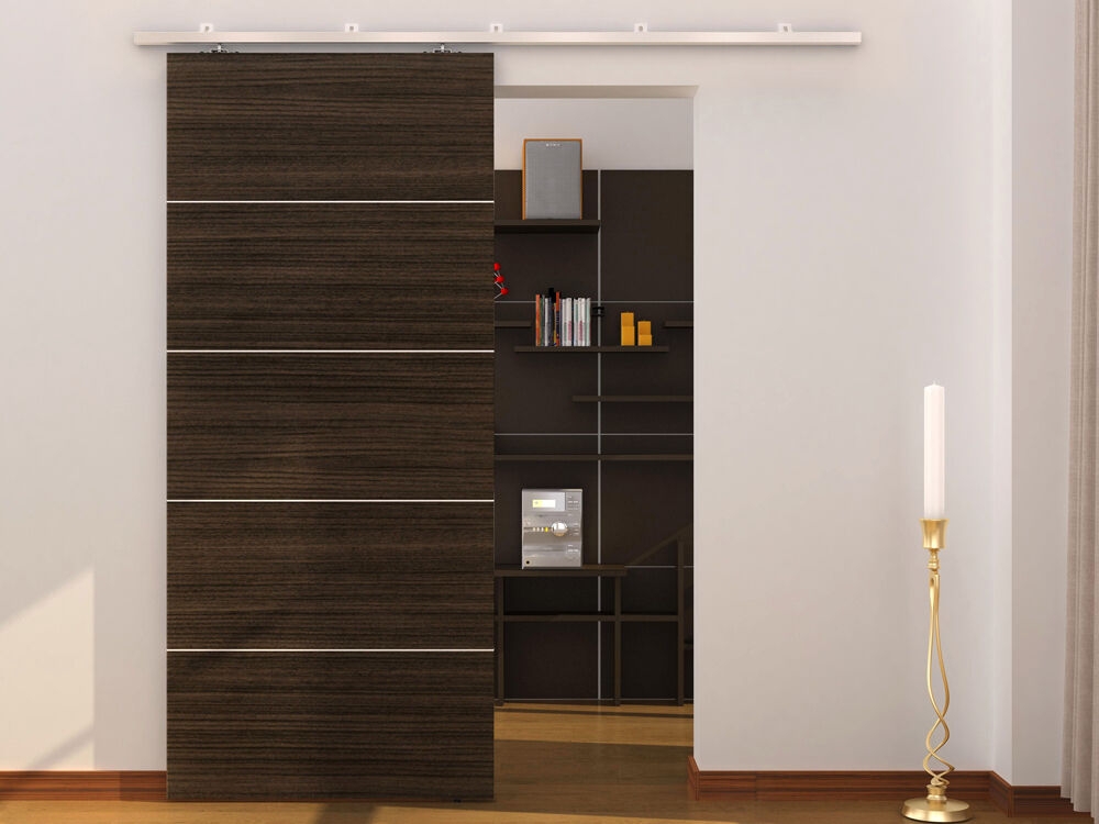 79 Quot Aluminum Modern Barn Wood Sliding Door Hardware Pocket