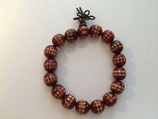 Bracelet porte bonheur : Mala en bois de rose (Protection et Eveil spirituels)