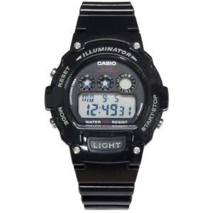 918d1df2869 Casio W-214HC-1 Illuminator Sports Digital Chronograph Original Mens ...