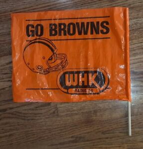 1970s-Cleveland-Browns-NFL-WHK-Radio-Station-14-Flag-w-Stick-STADIUM-GIVEAWAY