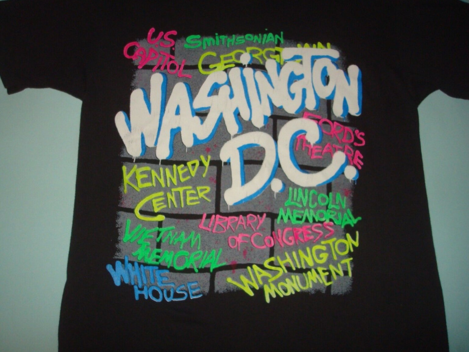 VTG 80s WASHINGTON DC GRAFFITI ART TOURIST T SHIR… - image 2