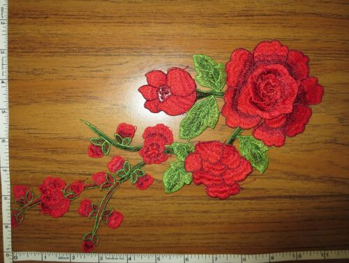 Appliques Embroidery Patch Motif Floral Flower Thread Applique For Sew on 1pc